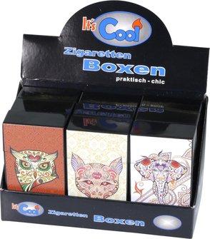 """Cool Zigarettenbox """"Pop up/Long"""" Asia Animal sortiert  100mm"""