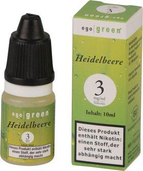 Liquid ego green Heidelbeere 3mg Nikotin 10ml
