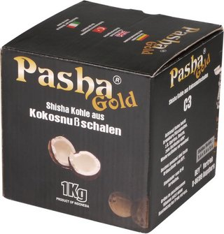 """Wasserpfeifenkohle """"Pasha Gold"""" 1kg"""