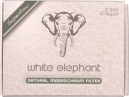 White Elephant Natur-Meerschaumfilter 9mm Box Inhalt 40 Filt