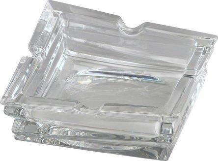"""BOHEMIA Cigarrenascher Bleikristall quadr. """"Rocky"""" 4 Ablagen"""