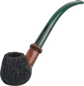 "RICO Lesepfeife ""Gnomo""braun-grün geb ca.20 cm Acrylmundst."