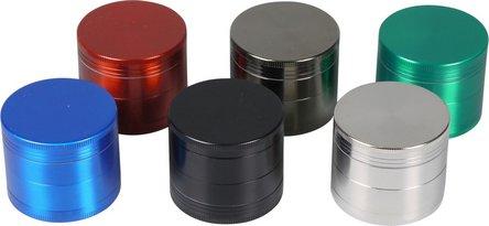 Grinder Metall 4tlg. farbig sortiert Durchmesser 50mm/H42mm