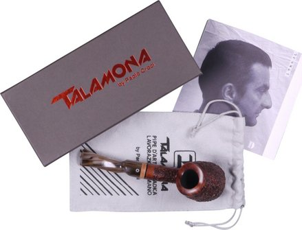 """TALAMONA Freehand pipe """"Roccia"""" with filter  acrylic mouthp."""