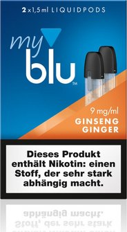 myblu Podpack 1.5ml GinsengGinger 9mg/ml Nikotin DE 2er Pack