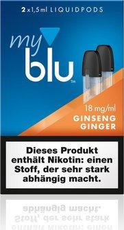 myblu Podpack 1.5ml GinsengGinger 18mg/ml Nikotin DE 2er Pac
