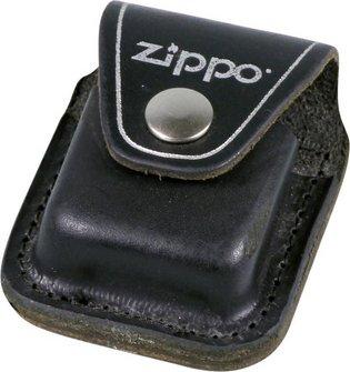 Org.ZIPPO cr.geb. im Set mit ZIPPO Ledertasche schwarz/Clip