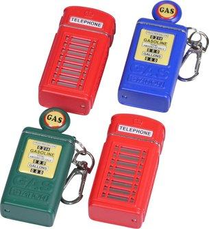 "Taschenascher ""Telefonzelle & Gasstation"" farbig sortiert"