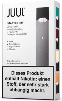 Elektrische Zigarette JUUL Starter-Kit schwarz DE