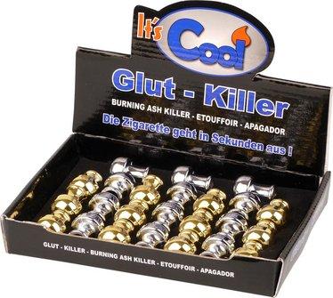 """Glut-Killer geschlossen """"Pilz"""" sort.(16xchrom + 8xgoldin)"""