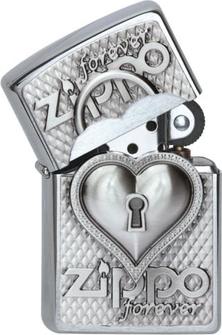 """Org.ZIPPO cr. geb. Plakette  """"Heart forever"""" 2002732"""