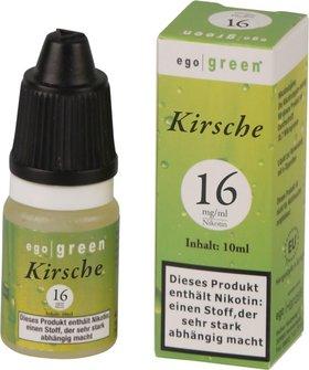 Liquid ego green Kirsche 16mg Nikotin 10ml