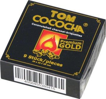 Wasserpfeifenkohle TOM COCOCHA GOLD Mini´s 9 Würfel