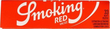 SMOKING KINGSIZE ROT Extra Fine Zigtt.-Papier (je25 Hf.)