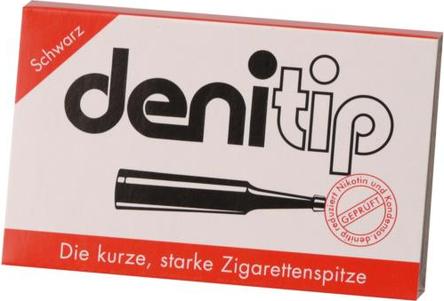 DENI Tip Einweg-Zigarettenspitze schwarz Inh.6St