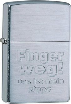 """Org.ZIPPO cr.grav.""""Finger weg!"""" 60001327"""