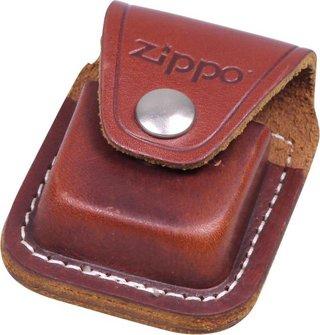Org.ZIPPO cr.geb. im Set mit ZIPPO Ledertasche braun/Clip
