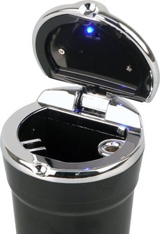 Ascher für Auto-Dosenhalter schwarz mit LED-Leuchte