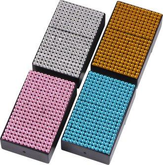 """Taschenascher """"Bling"""" eckig farbig sortiert  7 x 4.2 cm"""