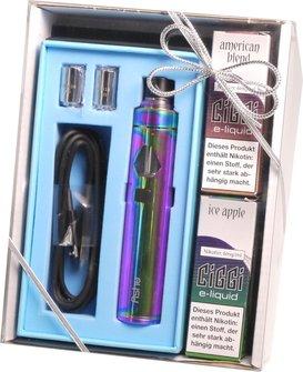 Elektrische Zigarette CIGGI Ashe Rainbow im Geschenkset