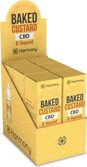 Harmony CBD-Liquid Baked Custard 300mg/10ml