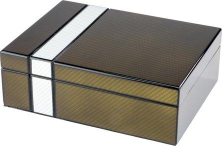 Humidor-Set 2-tone Laserfinish  für ca. 25 Cigarren