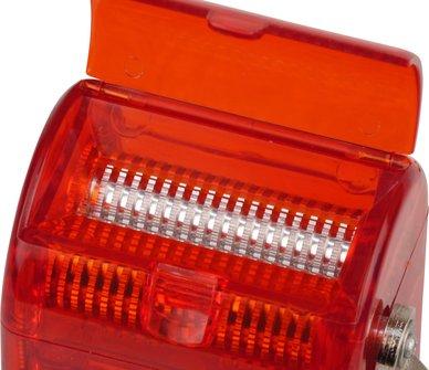 Grinder für Tisch Kunststoff rot, mit Kurbel, B 60mm, T 75mm