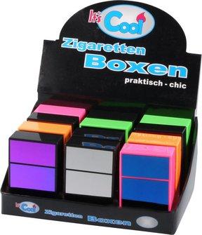 """Cool Zigarettenbox """"Pop up"""" verspiegelt farb.g so. 85mm"""