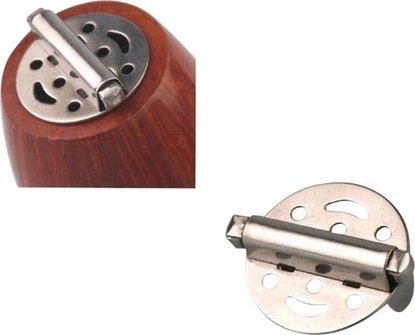 Pfeifendeckel mit Feder 25mm