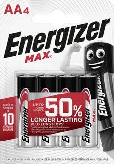 """Batterie """"Energizer MAX"""" 1.5 V / 4er Pack"""