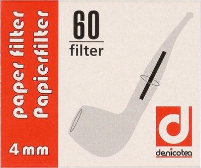 DENICOTEA Papierfilter 4mm Inhalt 60 Filter