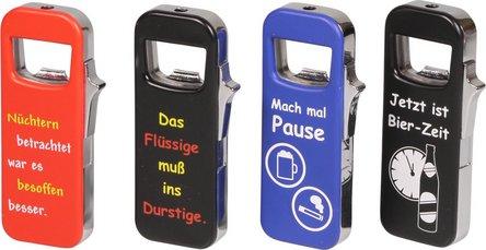 """COOL Piezo Fzg. und Flaschenöffner """"Mach mal Pause"""""""