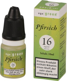 Liquid ego green Pfirsich 16mg Nikotin 10ml
