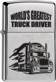 "Org.ZIPPO chr.geb.schw.""World Greatest Truck Driver""60000216"