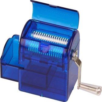 Grinder für Tisch Kunststoff blau, m. Kurbel, B 60mm, T 75mm