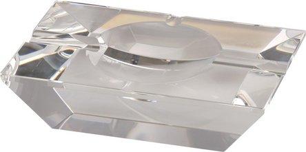 Cigarrenascher Kristallglas/rechteckig 4 Ablagen