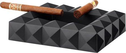 """COLIBRI Cigarrenascher Metall """"Quasar"""" schwarz 6 Ablagen"""