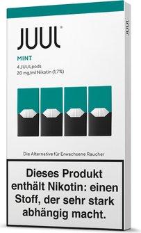 JUUL Podpack 0,7ml Mint 20g/ml Nikotin DE 4er Pack