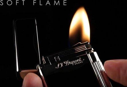 "DUPONT ""Le Grand"" mit Kombiflamme Chinalack schwarz 23010"