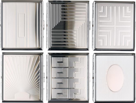Zigarettenetui JEAN CLAUDE chrom/Dekore sortiert 18er