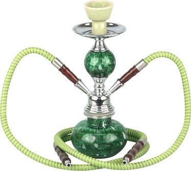 """Modern-Shisha Wasserpfeife """"HEKA"""" grün ca.30cm/2 Schläuche"""