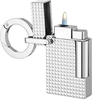 DUPONT Piezo-Fzg. mit Schlüsselring chrom Carrè 027002KR