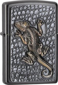 "Org.ZIPPO Grey Dusk Plakette ""Gecko"" 2006317"