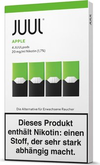 JUUL Podpack 0,7ml Apple 20g/ml Nikotin DE 4er Pack