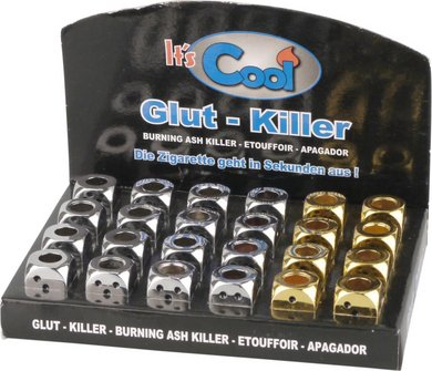 """Glut-Killer """"Würfel"""" offen 8xgold+16xchrom sortiert"""