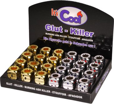 "Glutkiller ""Würfel"" offen 8xgold+16xchrom sortiert"