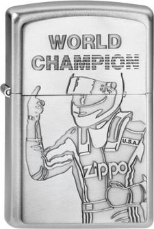 "Org.ZIPPO sat.fin.Plakette ""World Champion"" 2002949"