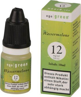 Liquid ego green Wassermelone 12mg Nikotin 10ml