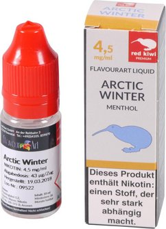 red kiwi FA Liquid Artic Winter (Menthol) Low 10ml