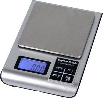 Taschenwaage / bis 500g / Skalierung 0.01g